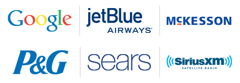 Google | JetBlue Airways | McKesson | P&G | Sears | SiriusXM Satellite Radio