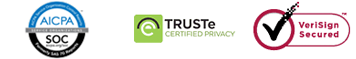 AICPA SOC | TRUSTe | VeriSign Secured